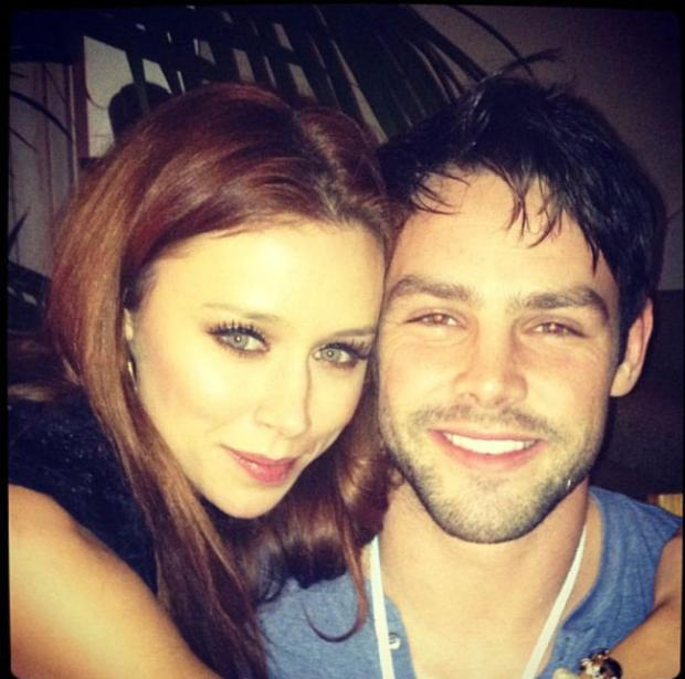 The Saturdays star posted this cute pic of herself and her rugby player husband, Ben Foden and wrote:
