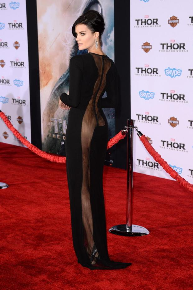 The Unknown Actress Until Now Jaimie Alexander Arrives At Premiere Of Marvels Thor
