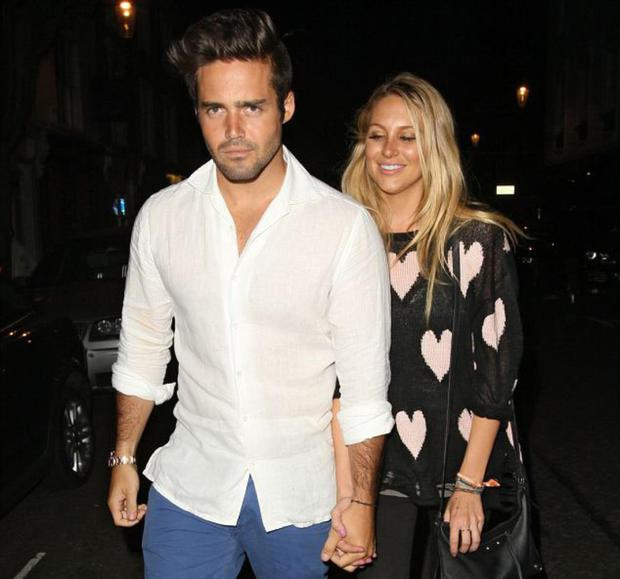 Yes, that's Stephanie Pratt from The Hills (Spencer's big sister) and Spencer Matthews from Made in Chelsea. Holding hands. Really.