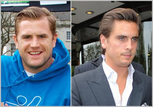Irish rugby star Jamie Heaslip bears a striking resemblance to reality tv star Scott Disick with his new hairstyle...which we love