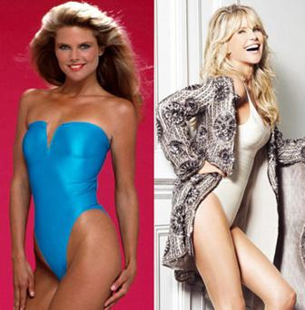 Christie Brinkley in the 1980s and in 2013.