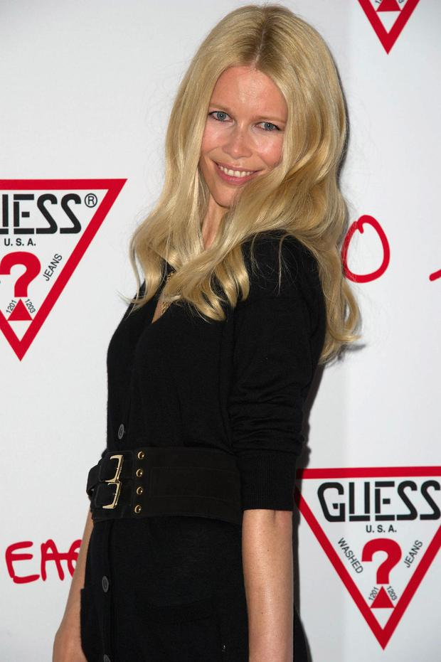 42-year-old Claudia Schiffer was the star of the Guess' 30-year anniversary shoot, a role that made her famous in 1989. Twenty-three years on, she's hardly changed a bit.