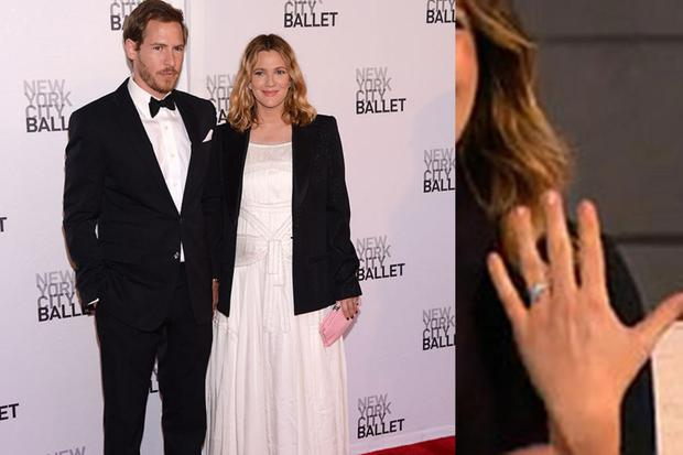 Drew had been dating her art dealer beau, Will Kopelman, for just a year, when he presented her with an engagement ring by Graff. The couple, who married in June, celebrated the arrival of their first daughter, Olive, in September.