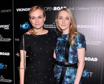 NEW YORK, NY - MARCH 27: Actors Diane Kruger and Saoirse Ronan attend The Cinema Society and Jaeger-LeCoultre Hosts A Screening Of