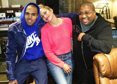 So, this is happening. J-Lo shared a snap of her in the recording studio with Chris Brown.