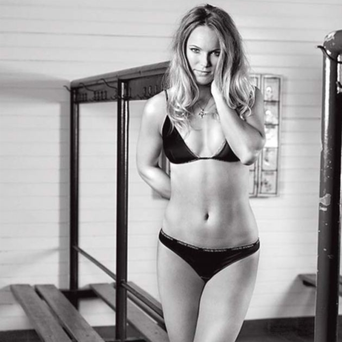 Caroline Wozniacki caused a stir this week posing in her newly launched underwear range, in the same week Rory McIlroy decided not to play in the Palmer's PGA tournament. Wonder if he saw these pics and decided to stay close to home?