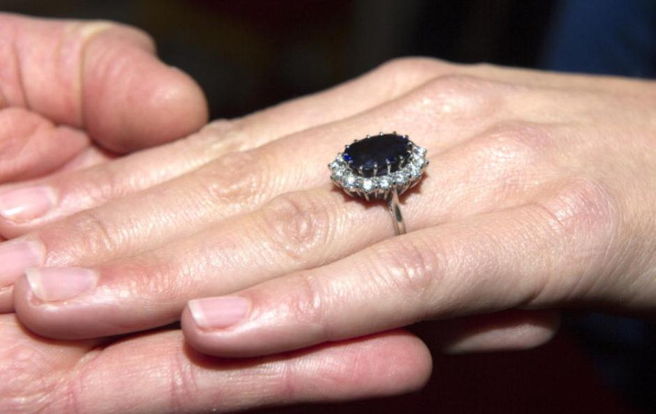 A Close Up Of Kate Middletons Engagement Ring As She Poses For Photographs In The State