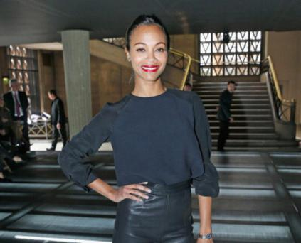 PARIS, FRANCE - MARCH 06: Zoe Saldana arrives to attend the Miu Miu Fall/Winter 2013 Ready-to-Wear show as part of Paris Fashion Week on March 6, 2013 in Paris, France. (Photo by Bertrand Rindoff Petroff/Getty Images)