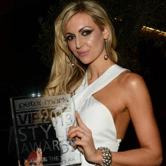 Rosanna with her VIP award heading to the afterparty.