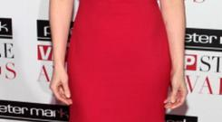 TV3 news anchor Colette Fitzpatrick was the lady in red in her cap sleeved gown.