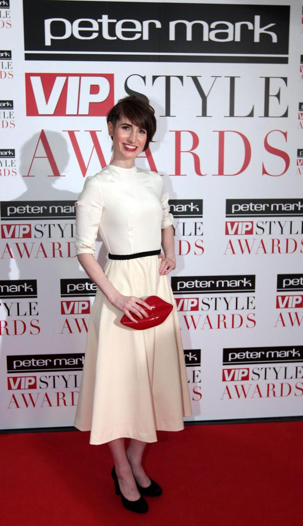 Kirsty's usual glam look, as seen at the 2015 VIP Style Awards