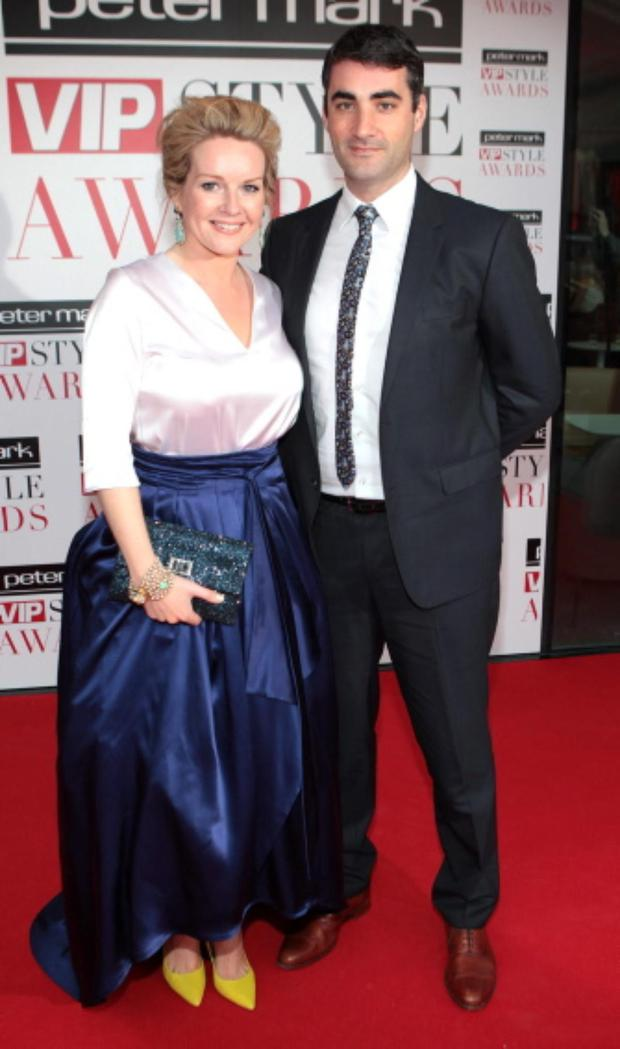 Claire Byrne and Gerry Scollan