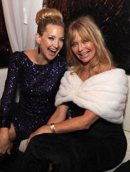Well-deserved break: Kate Hudson and screen-icon mum Goldie Hawn