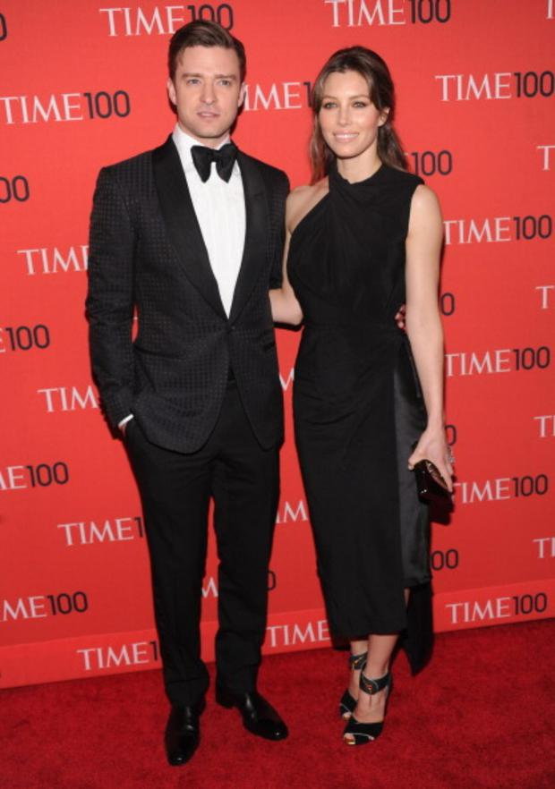 NEW YORK, NY - APRIL 23: Justin Timberlake and Jessica Biel attend the 2013 Time 100 Gala at Frederick P. Rose Hall, Jazz at Lincoln Center on April 23, 2013 in New York City. (Photo by Jamie McCarthy/Getty Images)