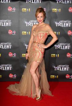 Amanda looks sensational in this nude tulle down for the BGT pre-final party from last year's show.