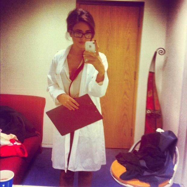 Nadia Forde dressed up as a doctor for a sketch on Republic of Telly.
