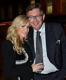 The couple attend the opening night of Steel Magnolias at The Gaiety Theatre in Dublin in September.