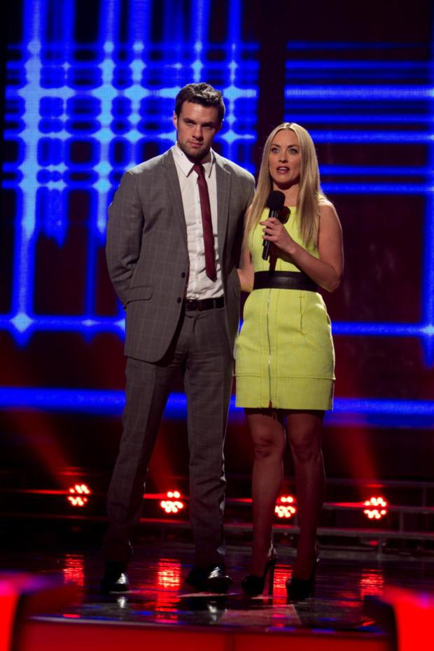 Kathryn Thomas joins the hunky mentor on stage for The Voice of Ireland
