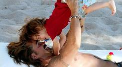H is for Henry - Colin Farrell is the doting dad to two boys, Henry and James. He recently revealed how he delights in the small milestones achieved by nine-year-old disabled James and said he
