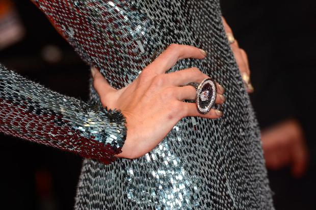 Alessandra Ambrosio wore this giant disc ring to the 'All Is Lost' Premiere during the 66th Annual Cannes Film Festival