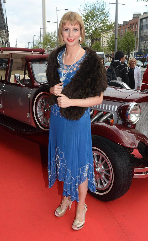 Aisling O'Loughlin arrives the Irish Premiere of The Great Gatsby at The Savoy, Dublin.