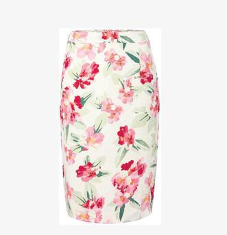 Linea floral print pencil skirt, 104 House of Fraser