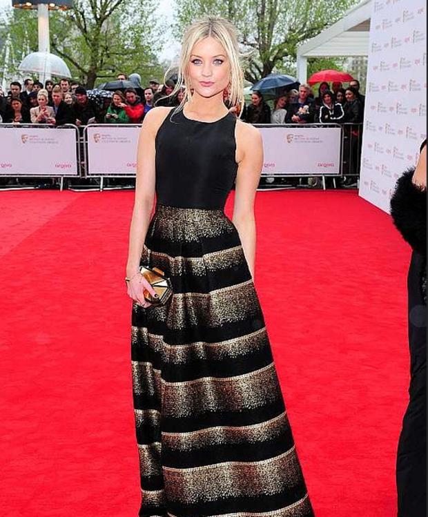 Laura Whitmore - One of the best dressed of the night, TV presenter Laura wore a black and gold Sophia Kah gown.