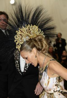 Sarah Jessica Parker attends the Costume Institute Benefit at The Metropolitan Museum of Art May 6, 2013, celebrating the opening of Punk: Chaos to Couture.