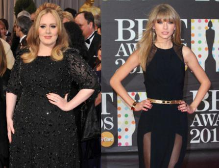 Grammy winners Adele and Taylor Swift will both be 24 this year.