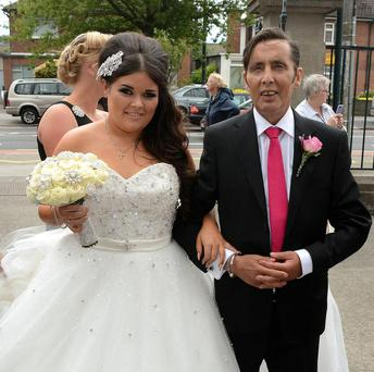 Despite his ailing health, Christy Dignam made sure he was there to walk his daughte Kiera up the aisle.