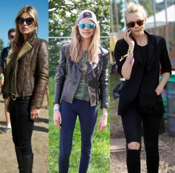 Kate Moss, Cara Delevingne and Carey Mulligan are just some of the famous faces spotted at Glastonbury this year.
