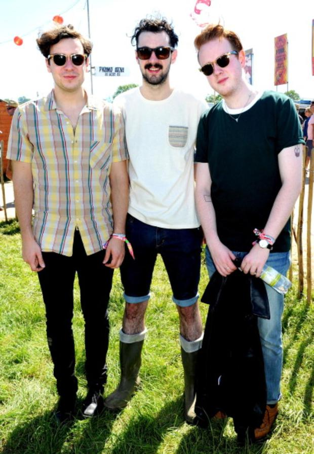 (L-R) Sam Halliday, Kevin Baird and Alex Trimble of Two Door Cinema Club