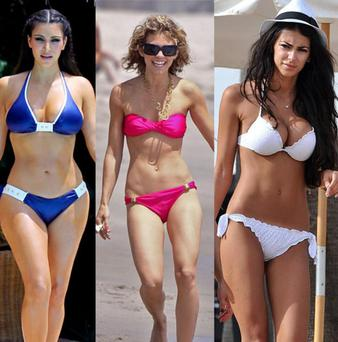 Kim Kardashian, Annalynne McCord and Georgia Salpa are among the most Googled celebrity bikini bodies
