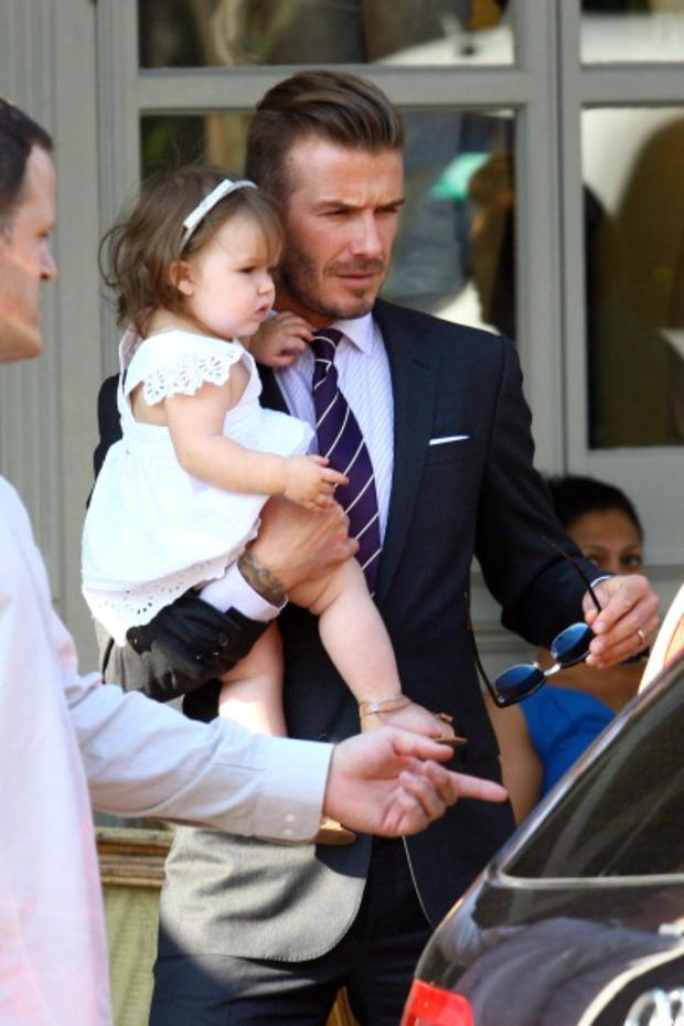 Harper Beckham Seen Here With Her Doting Dad David Is Fast Becoming The Most