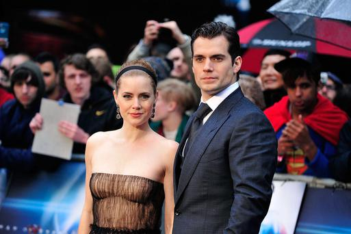 Amy Adams Henry Cavill attends the UK Premiere of 'Man of Steel' at Odeon Leicester Square on June 12, 2013 in London, England.