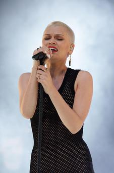 Jessie J onstage at the Capital FM Summertime Ball at Wembley in London.