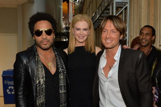 Lenny Kravitz, Nicole Kidman and Keith Urban
