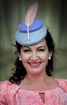 Maura Derrane at the Galway races in Ballybrit Galway yesterday.