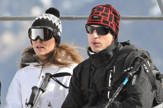 Prince William and Kate Middleton vacation in the French Alps in 2010