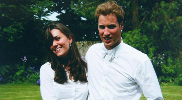 n this Handout Image provided by Clarence House, Kate Middleton and Prince William on the day of their graduation ceremony at St Andrew's University in St Andrew's on June 23, 2005 in Scotland. (Photo by the Middleton Family/Clarence House via GettyImages)
