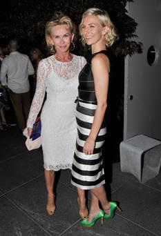 Producer Trudie Styler and actress Mickey Sumner attend the after party for The Cinema Society Brooks Brothers Screening Of Lionsgate And Roadside Attractions' 'Girl Most Likely' at Hotel Americano on July 15, 2013 in New York City.