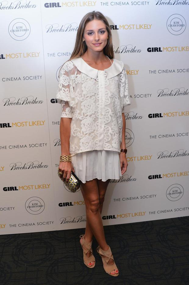 TV Personality Olivia Palermo attends the screening of Lionsgate and Roadside Attractions' 'Girl Most Likely' hosted by The Cinema Society Brooks Brothers at Landmark's Sunshine Cinema on July 15, 2013 in New York City.