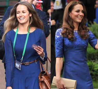 Kim Sears and Kate Middleton are both famed for their classic, tailored style.
