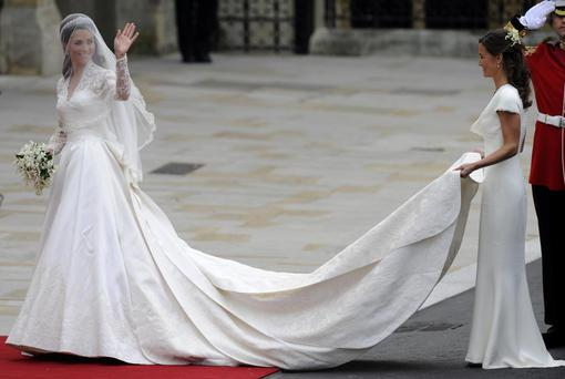 Kate Middleton at her 2011 wedding