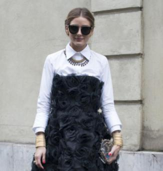 Olivia Palermo was among the many fashionable attendees at Haute Couture Week who was snapped showing off her unique style.