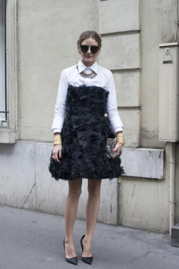 Olivia Palermo wears a Valentino dress