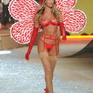 She transformed into a beautiful butterfly for her turn on the catwalk.