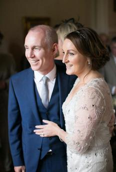 When Ray D'Arcy married his producer and long term girlfriend Jenny Kelly at the weekend in Slane, she wowed in a full length beaded Jenny Packham gown. Declan O'Rourke performed at the ceremony and in attendance were Tommy Tiernan and Today FM pals Ian Dempsey and Mairead Farrell.