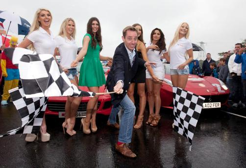 Ryan Tubridy at the start of this years Cannonballs road trip.