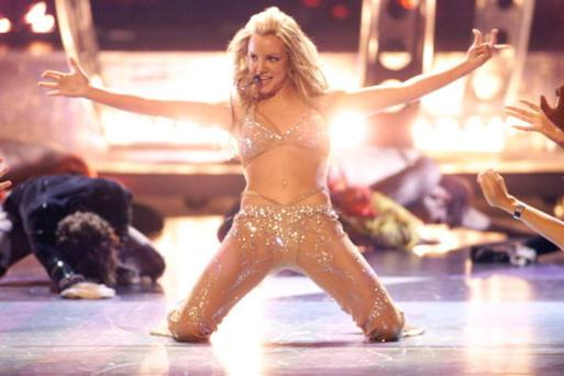 In 2000, Britney Spears shocked audiences when she stripped down to a flesh colour sequinned suit on stage.